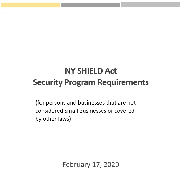 Image of New York SHIELD Act document