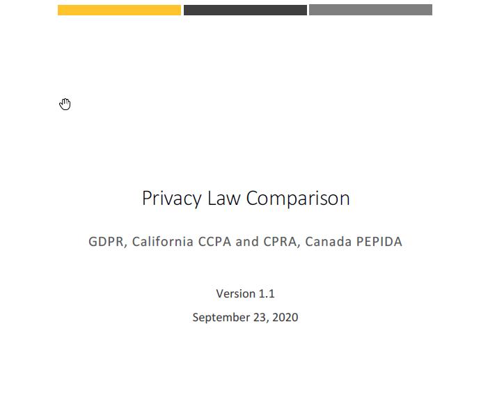 Privacy Law Comparison