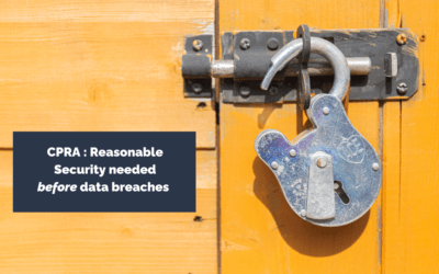 CPRA and Data Breaches – no free lunch